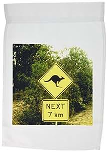3dRose fl_74661_1 Sign Warning of Kangaroos Crossing in Australia-AU01 BBA0096-Bill Bachmann Garden Flag, 12 by 18-Inch