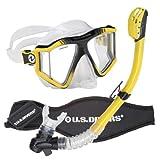 U.S. Divers Lux Purge Grenada LX Snorkel Mask, Yellow
