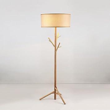 Lámpara de pie de madera multifuncional, Diseño de soporte ...