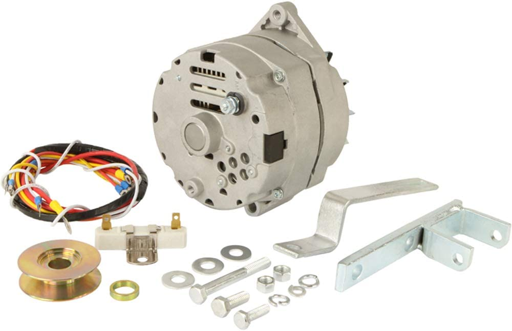New Ford 8N Tractor Alternator Generator Conversion Kit One Wire 63 Amp 12V
