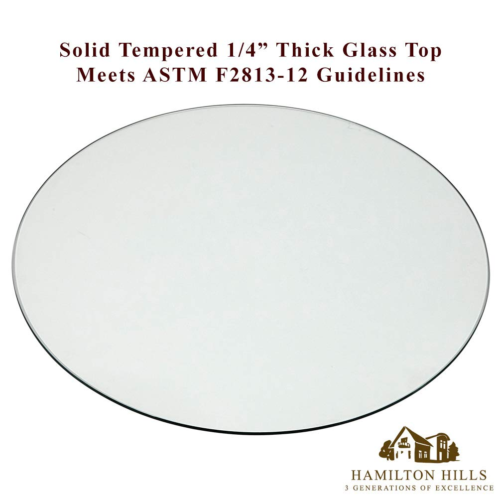 1//4 Thick Tempered Polished Pencil Edge 36 No Bevel Premium Round Flat Circular Plate Glass 36 Inch Glass Table Top Perfect Circle