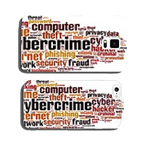 Cybercrime word cloud concept. Vector illustration cell phone cover case iPhone6 Plus