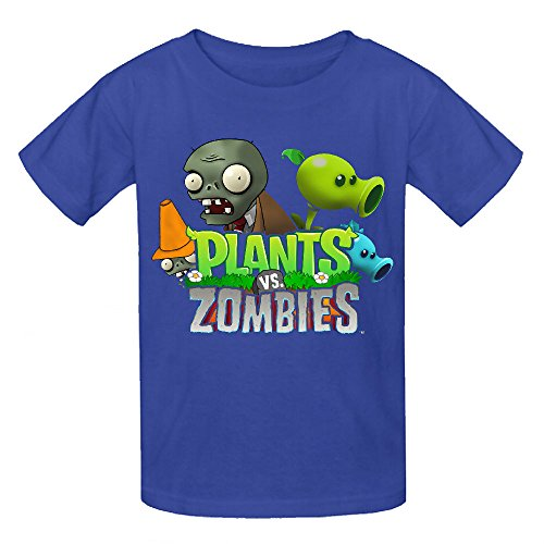 Toypop Plants Vs Zombies Youth Cotton O T Shirts Design Blue (Zombie Clothing)