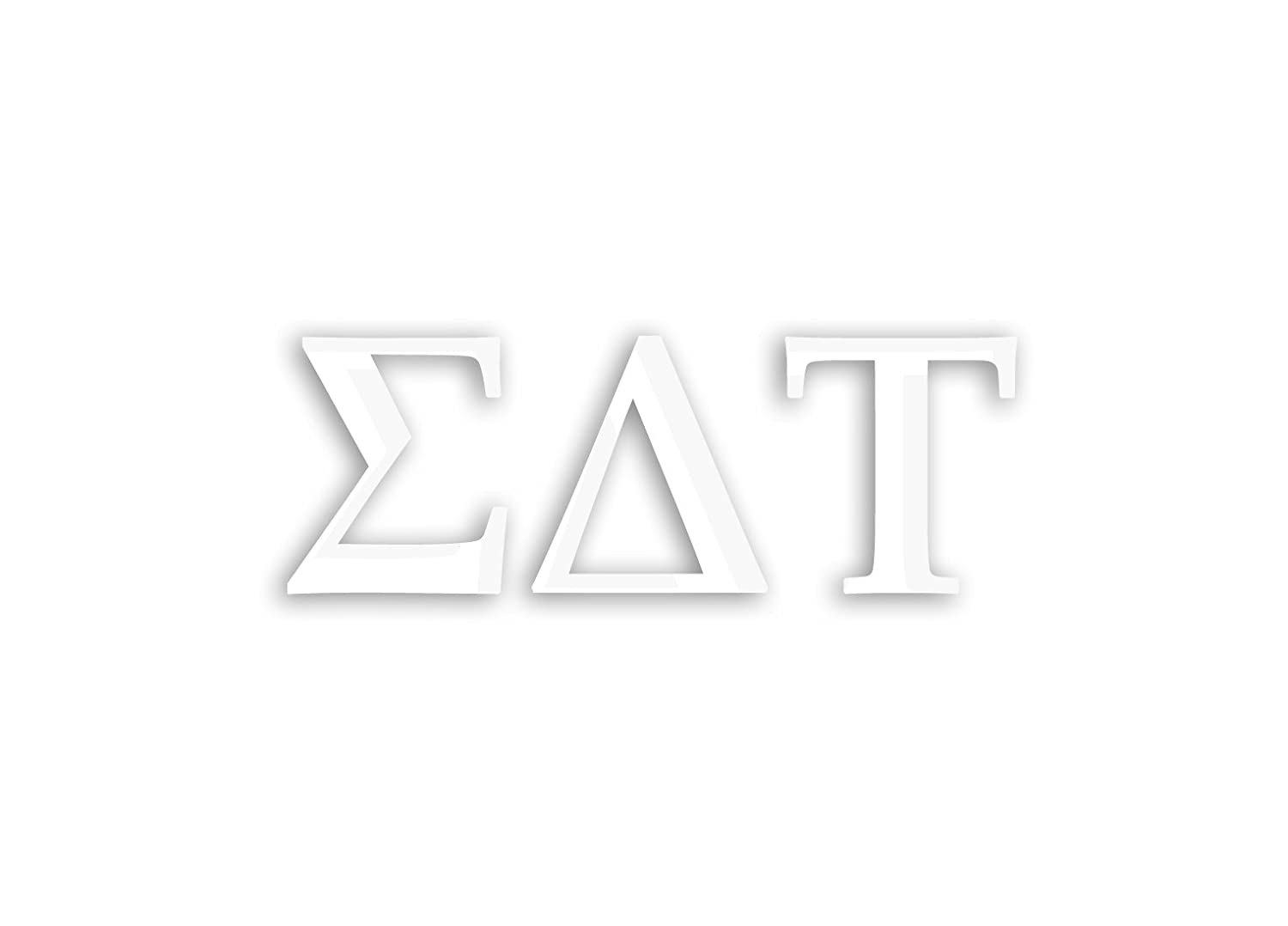 White Offically Licensed Sigma Delta Tau 8 x 3 Window Decal