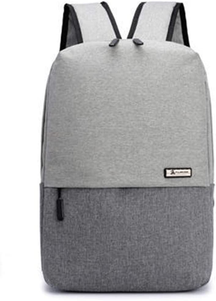 USB Neutral School Leisure Backpack Oxford Canvas Laptop Fashion Men Backpack grey 12 Inches