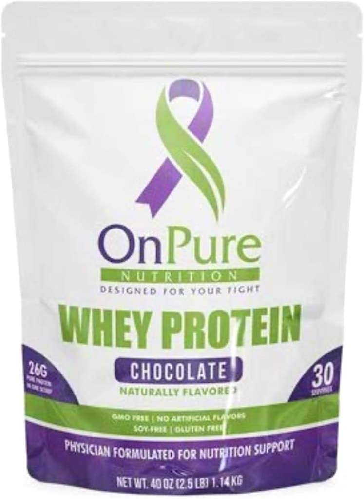 OnPure Whey Chocolate Protein Powder. High Protein. No Sugar Added. Gluten Free