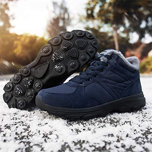 Bottes 46eu Chaussures Neige 36 Hiver Imperméable Confortable Homme Randonnée Femme Blau De Chaudes rPqrXwx6
