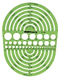 Pickett Circle Radius Master Template, Circle Range Size 3/64 to 7-1/2 Inches (1202I)
