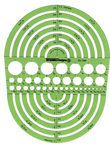 Pickett 1202I Circle Radius Master Template, Circle Range Size 3/64 To 7-1/2 Inches - Round Template