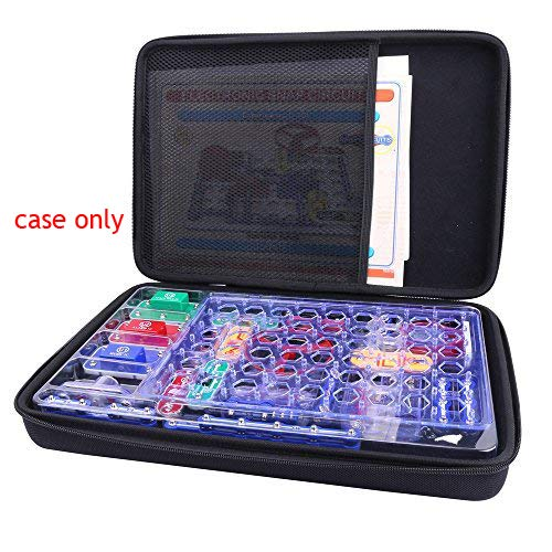 Aenllosi Hard Organizer Storage Case for Snap Circuits Jr. SC-100 Electronics Discovery Game Kit