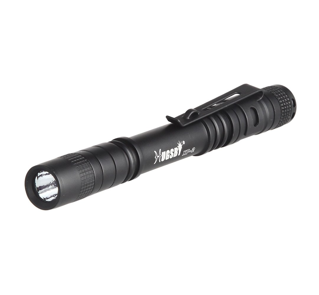 LAFEINA Mini Handheld Flashlight, Pocket Clip 120LM CREE LED Aluminum Pen Light, Torch Lamp Powered by AAA Batteries for Medical, Nursing, Hiking, Camping, Emergency