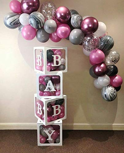 (XmasExp Balloon Arch & Garland Kit - 101 Pcs Gray, Purple, Marble Agate & Silver Confetti Balloons Premium Latex Balloons,Perfect for Wedding, Baby Shower, Graduation, Anniversary Party Decorations)