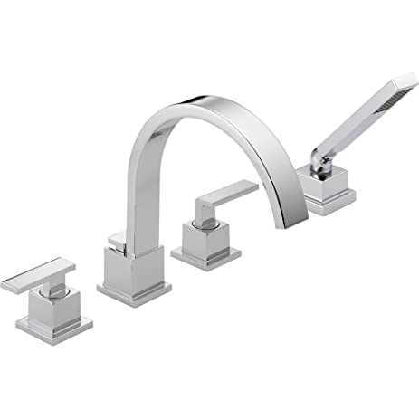 Delta Vero Deck Mount Chrome Roman Tub Faucet With Valve And