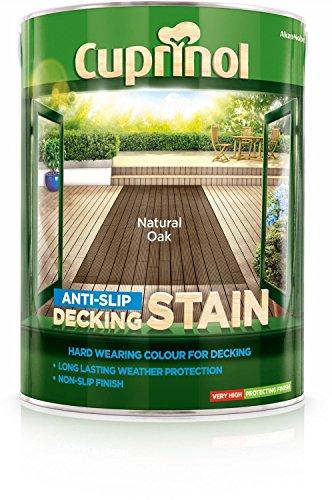 Cuprinol Anti Slip Decking Stain Natural Oak 5L