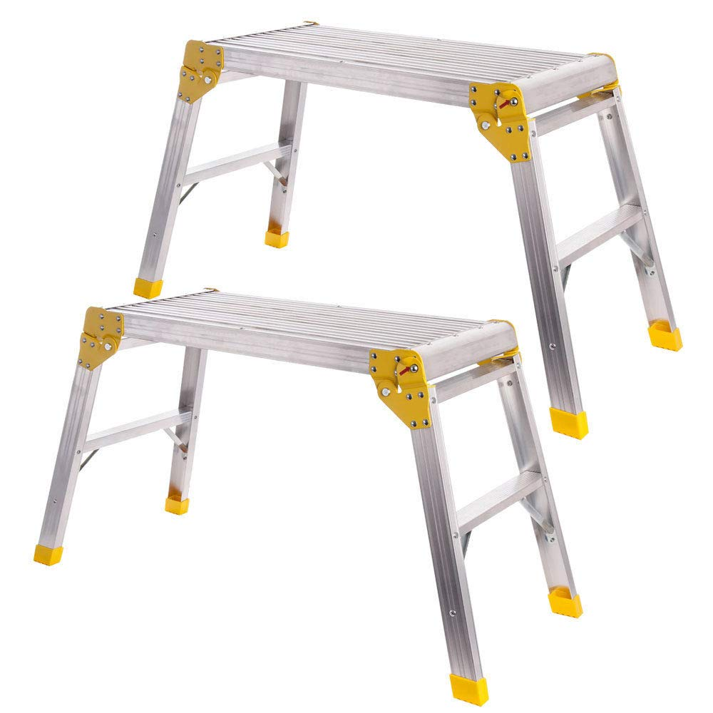 Excel 700mm x 300mm Heavy Duty Stool Platform Workbench Folding Hop Up Pack of 2