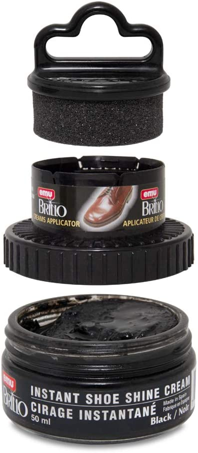 Moneysworth & Best Instant Shoe Shine Cream Kit with Dauber, Black, 50 ml: Sports & Outdoors