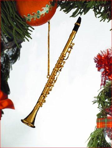 Gold Soprano Saxophone Tree (Christmas Soprano Saxophone)