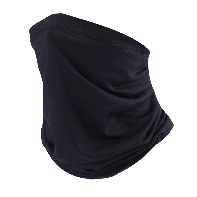 SUNMECI Neck Gaiter Warmer Windproof Mask Dust - Free UV Face Mask Black Ltd