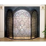 Meyda Tiffany 48104 Stained Glass Tiffany Fireplace Screen from the Classic Fi - Tiffany Glass