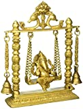 Hindu Religious Gift and Home Decor from India (Ganpati Bappa On Swing 10'')