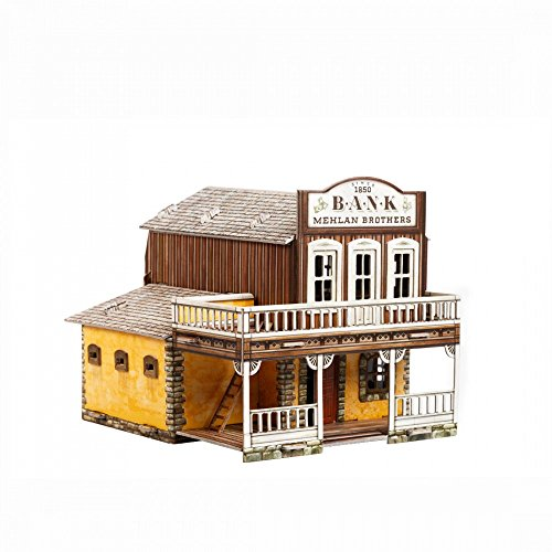 (UMBUM Innovative 3D Puzzle - The Bank - Wild West Series by Clever Paper (469))