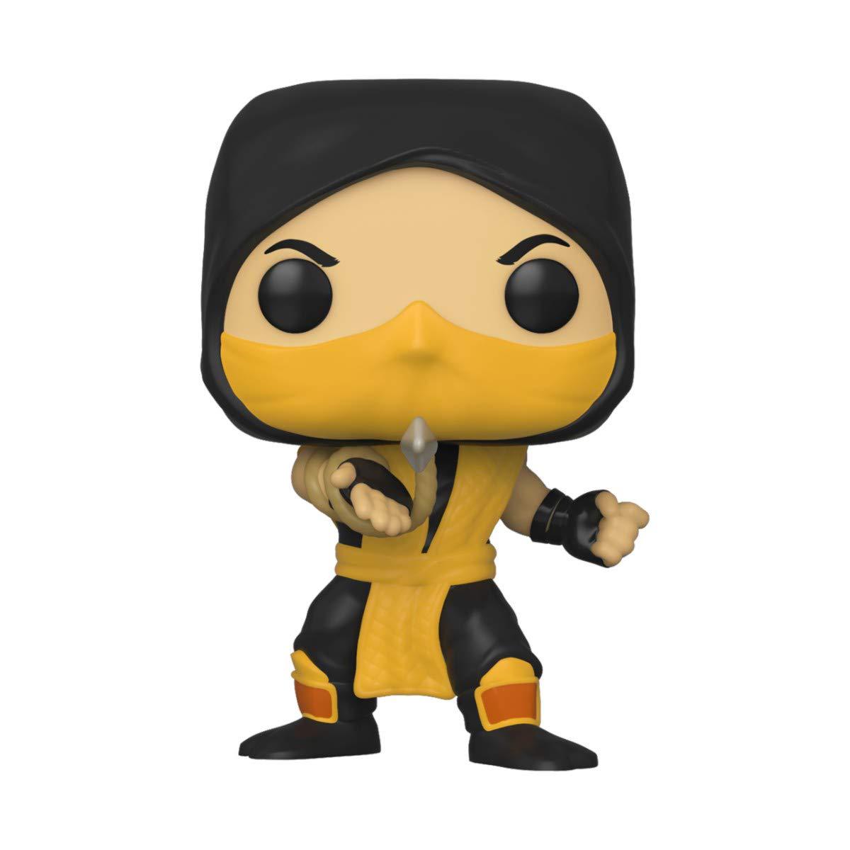 Funko Pop! Games: Mortal Kombat - Scorpion, Multicolor,3.75 inches