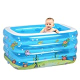 DU&HL Inflatable Bathtub Family Swimming Pool, Ocean Living Pool