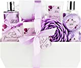 "Deluxe Spa Basket, ""I Think You're Wonderful"" Gift Basket for Women. Bath & Body 10-Piece Gift Set."