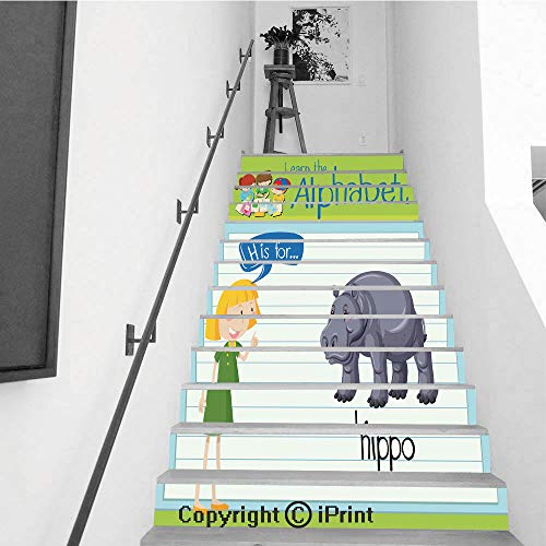 - Staircase Stickers Wallpaper Indoor Decorations 39.3