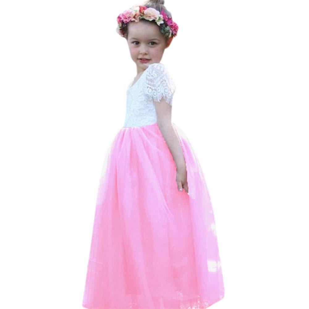 Amazon Nigalaly Summer Princess Outfits Fashion Girls Shortsleeved Bud Silk Skirt Party Wedding Dress 120 Pink Clothing: Magenta Short Wedding Dresses At Websimilar.org