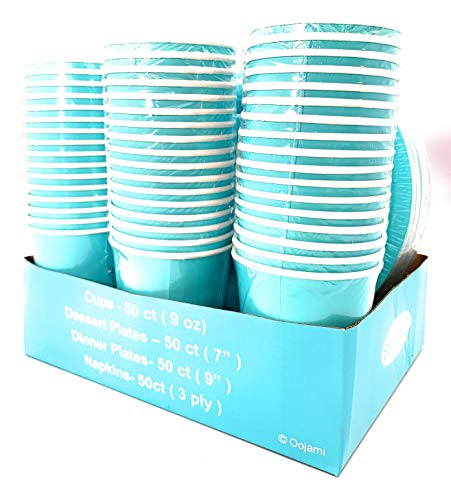 Serves 50 | Complete Party Pack | Teal | 9