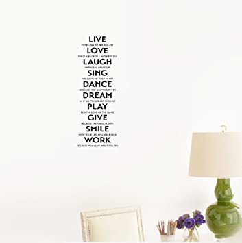 Amazoncom Wall Sticker Quote Live Every Day To The Fullest Love