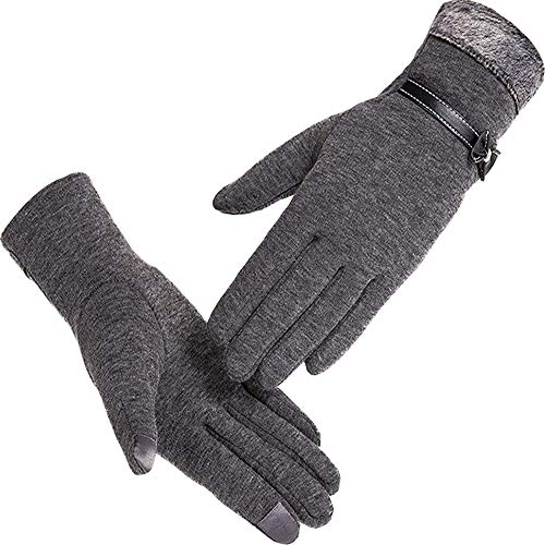 Algerc Winter Gloves Touch Screen Gloves Thick Warm Windproof Mittens