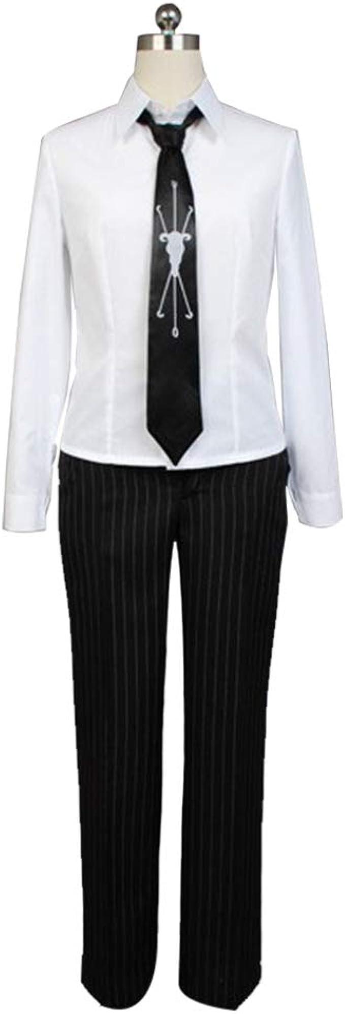Amazon.com: Ya-cos Fuyuhiko Kuzuryu Cosplay Outfit Uniform Pinstripe Suit Anime Costume Blazer Shirt Pants Full Set with Tie: Clothing