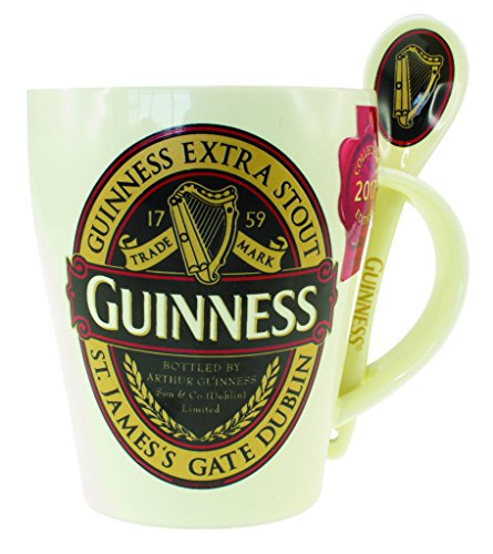 (Guinness Classic Red Collection Ceramic Mug and Spoon Set)