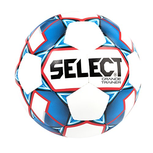 Select Grande Trainer Soccer Ball, White/Blue/Red, Size 47.2