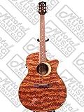 Ludwig WLBUBINGA Luna Woodland Bubinga Cutaway Grand Auditorium Acoustic-Electric Guitar, Rosewood Fretboard