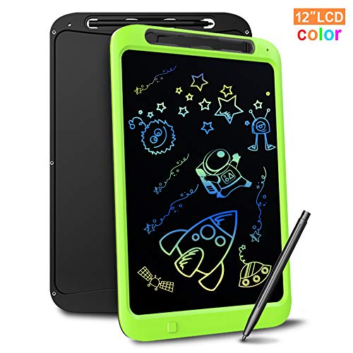 LCD Writing Tablet, Richgv 12 Inch Colorful Update Digital Electronic Graphics Tablet Ewriter with Screen Lock Handwriting Pad Suitable for Kids and Adults