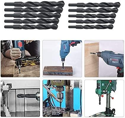 Blacksmiths MASO negro Broca para taladro de acero HSS 12-22 mm, v/ástago reducido, para aluminio, acero, madera, pl/ástico, no ferroso, etc.
