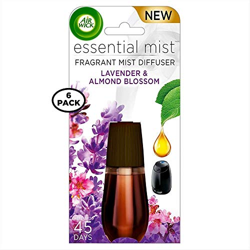 Air Wick Essential Mist, Fragrant Mist Diffuser, Lavender & Almond Blossom 0.67 oz (Pack of 6)