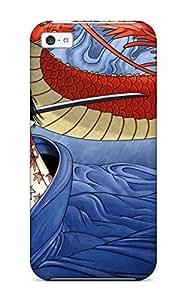 3658931K72423532 Tpu Shockproof Scratcheproof Oriental Hard Case Cover For Iphone 5c