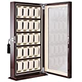 Cheap Piano Painted Wooden 20 Watch Display Cabinet Storage Box