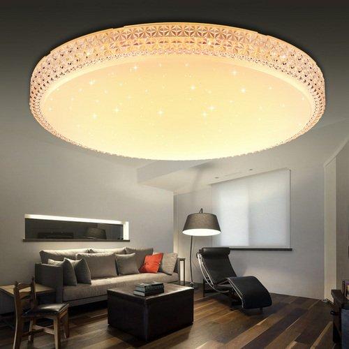 Vingo starlight effect design 60w led ceiling light stars with vingo starlight effect design 60w led ceiling light stars with crystal frame warm white 2700 aloadofball Images