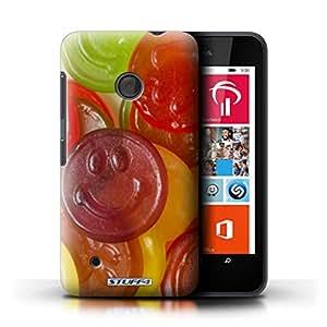 Kobalt® protector duro de nuevo caso / cubierta para el Nokia Lumia 530 | Caras jalea Diseño | Dulces y caramelos colección