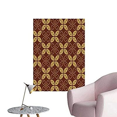 SeptSonne Wall Decals jav ese Batik Set g kawung simplaifie Marquise Chain Environmental Protection Vinyl