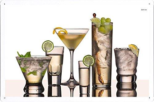 Vodka Based Cocktails Tin Poster by Food & Beverage Decor Sign (Best Vodka Based Cocktails)