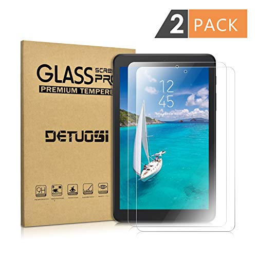 [2-Pack] Samsung Galaxy A 8.0 T387 Screen Protector(NOT for T350 2015 and T380 2017),DETUOSI Ultra Clear Anti-Scratch Bubble Free Tempered Glass Film for Galaxy Tab A8.0 T387 2018 Released