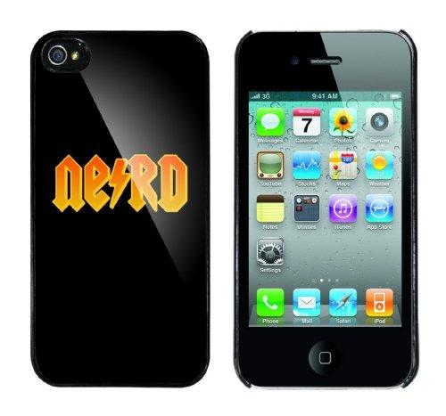 Iphone 4 Case Nerd Rahmen schwarz
