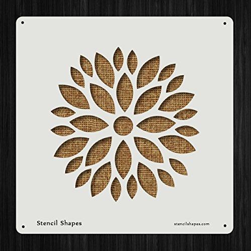 Flower Petal Stencil (Sun Flower Flowers Petal Plant Style 3890 DIY Plastic Stencil Acrylic Mylar Reusable)