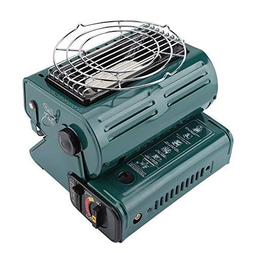 Estufa de Gas para Camping, Calentador de Gas, Calentador de Gas Butano, EstufaPortátil para Cocina y Al Aire Libre(Verde...
